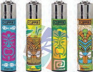 Clipper Flint Lighters with TIKIS 3 Design -  40 pack