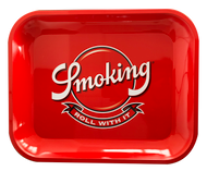 SMOKING Metal Rolling Trays  - HIGH GLOSS RED BRAND LOGO DESIGN (4 SIZES)