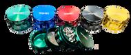 STUNNING Coloured WOW, Diamond cut Metal 4 Part Grinders - 1x10 pk