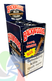 BACKWOOD Cigars (BLUE) taste of Fresh Vanilla - 8 x 5 pk of Cigars