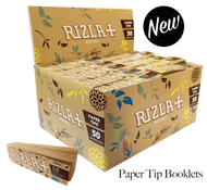 RIZLA Natura Filter Tip Booklets  - 50 Pack