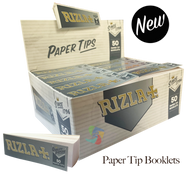 RIZLA Silver Filter Tip Booklets  - 50 Pack