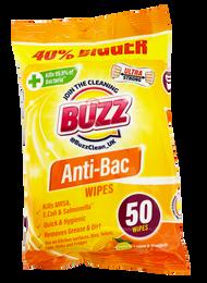 BUZZ LEMON & MANDARIN ANTI-BAC WIPS (50PK)