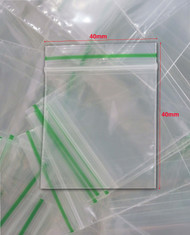 Clear Plastic Bags with Grip Top seals SIZE 40 X 40mm (1000PK)