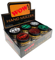 WOW 50mm Metal 3 Part Black & Gold colour Grinders with Leaf Designs - 12 pack