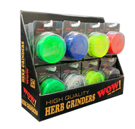 WOW BRIGHT TRANSLUCENT COLOURED NO1 ACRYLIC GRINDER - 24 on a Stand
