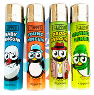CLIPPER LARGE FLINT REFILLABLE LIGHTERS PENGUIN DESIGNS (Pack Size: 40)