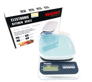 WOW Digital Kitchen Scale - 3 Kg & increments of 0.1 Silver Colour