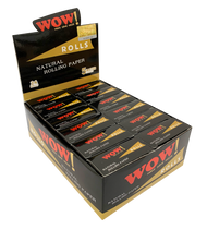 WOW 5MTR ROLLS OF NATURAL ROLLING PAPERS - 24 PER BOX