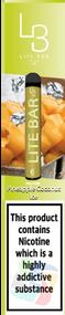 LITE BAR DISPOSABLE VAPE PODS (600 PUFFS) -PINEAPPLE COCONUT ICE - 10PK