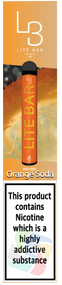 LITE BAR DISPOSABLE VAPE PODS (600 PUFFS) -ORANGE SODA - 10PK