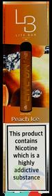 LITE BAR DISPOSABLE VAPE PODS (600 PUFFS) -PEACH ICE - 10PK
