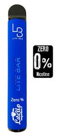 LITE BAR ZERO NICOTINE DISPOSABLE VAPE BARS (600 PUFFS) - BLUE RAZZ  - 10PK