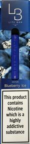 LITE BAR DISPOSABLE VAPE BAR (600 PUFFS) - BLUEBERRY ICE - 10PK