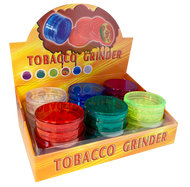 3 PART ACRYLIC GRINDER WITH COLOURFUL DESIGN TOPS (GR037) 12 PACK