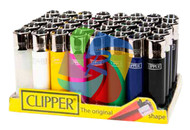LARGE SOLID COLOUR CLIPPER LIGHTERS (Pack Size: 40)
