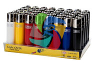 MICRO SOLID COLOUR CLIPPER LIGHTERS (Pack Size: 40) (SKU: CL026)