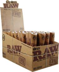 RAW PRE-ROLLED CONE 3 PACK (32 PER BOX) (SKU: RW017)