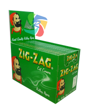 ZIG-ZAG GREEN REGULAR PAPERS (100 BOOKLETS PER BOX)