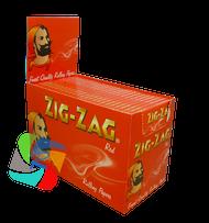 ZIG-ZAG RED REGULAR PAPERS (100 BOOKLETS PER BOX) (SKU: ZI007)