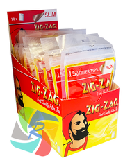 ZIG-ZAG SLIMLINE FILTER TIPS 150 TIPS PER PACK. (10PK)