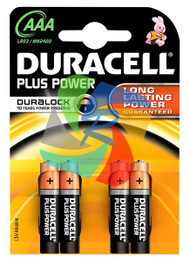 DURACELL PLUS PWR AAA PACK OF 4 (Pack Size: 10) (SKU: BT009)