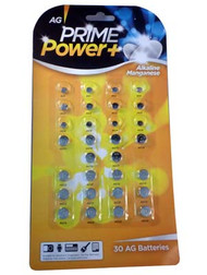 PRIME POWER PLUS AG BUTTON BATTERIES (30) (SKU: BT013) 12 in a pack