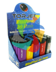 JET FLAME WINDPROOF REFILLABLE LIGHTERS (TRAY OF 25)