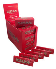RIZLA RED REGULAR ROLLING PAPER MULTI 5 PACK (20 X 5 BOOKLETS PER BOX) (SKU: RZ023)