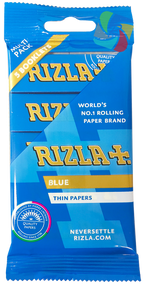 RIZLA BLUE REGULAR ROLLING PAPER MULTI 5 PACK (60 X 5 BOOKLETS PER BOX)  (RZ024)