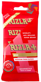 RIZLA RED REGULAR ROLLING PAPER MULTI 5 PACK (60 X 5 BOOKLETS PER BOX)  (RZ030)