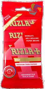 RIZLA RED REGULAR ROLLING PAPER MULTI 5 PACK (60 X 5 BOOKLETS PER BOX)  (RZ030)