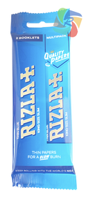 RIZLA BLUE KINGSIZE SLIM ROLLING PAPER MULTI 3 PACK (60 X 2 BOOKLETS PER BOX) (RZ032)