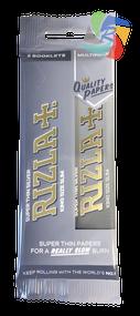 RIZLA SILVER KINGSIZE SLIM ROLLING PAPER MULTI 3 PACK (60 X 2 BOOKLETS PER BOX) (RZ033)