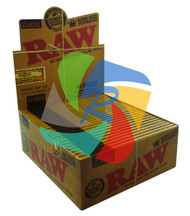 RAW - CLASSIC NATURAL UNREFINED SUPREME KINGSIZE ROLLING PAPERS (24 PER BOX) (SKU RW018)