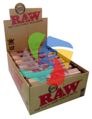RAW 110mm HEMP PLASTIC ROLLERS PER BOX OF 12 (SKU RW024)