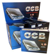 OCB STAINLESS STEEL AUTOMATIC ROLLING BOXES (6 PER BOX) (SKU: OC010)