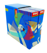 SWAN KINGSIZE BLUE SLIM PAPER 50 BOOKLETS PER BOX (SKU SW009)