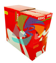 SWAN KINGSIZE RED SLIM MEDIUM PAPER 50 BOOKLETS PER BOX (SKU: SW010)