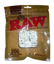 RAW Slim Filter Tips (200 Per Bag) (SKU: RW032)