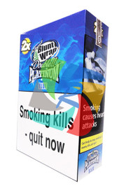 PLATINUM BLUEBERRY BLUNTS (25X2 WRAPS PER BOX) (BLUE)