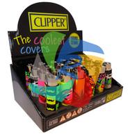 CLIPPER FLINT  LIGHTERS - MIX'N'GO DESIGN COVERS - 24 PK (SKU: CL065)