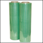"Green Stretch Film: Hand Wrap 18"" 1,500 ft 80 gauge"