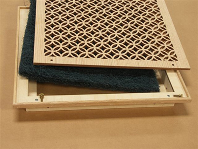 Wood Filter Grille Assembly