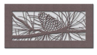Pinecone Metal Vent Cover