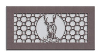 Deer Medallion Metal Vent Cover