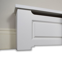 Craftsman style wood baseboard cover profile