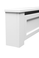 Shaker Style 5 ft. Wood Baseboard Heater Cover Kit in White