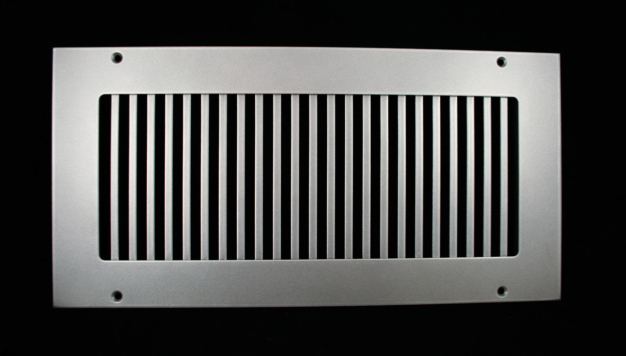 Custom Pro Vertical Return Vent Cover Brushed Stainless