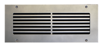 "Custom Pro-Linear Vent Cover Return (White) - 58.5"" x 2"" opening size (60.5"" x 4"" overall) With mounting holes, flat no frame"